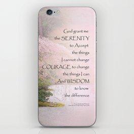 Serenity Prayer Cherry Tree One iPhone Skin