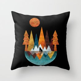 The Night Of The Wolf Throw Pillow