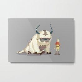 Pixel Avatar Metal Print