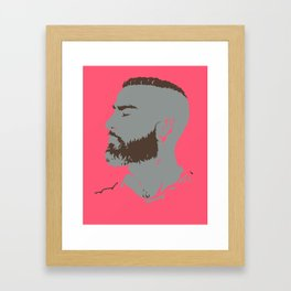 Bearded Man I - Magenta Framed Art Print
