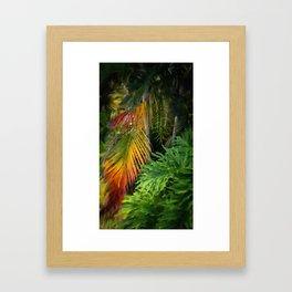 Palm Glow Framed Art Print