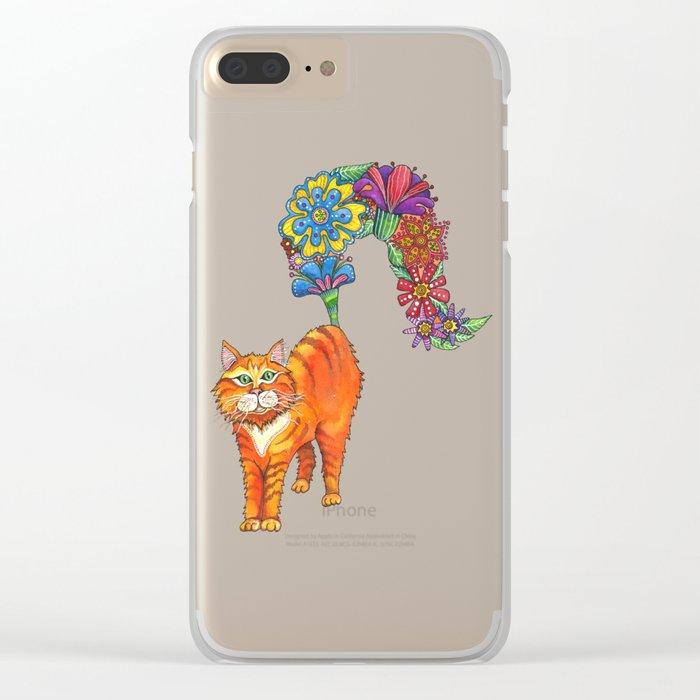 Classy Cat Chloe Clear iPhone Case