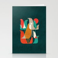 dude Stationery Cards featuring Flock of Birds by Picomodi