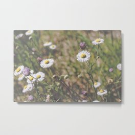 Matte Flowers Metal Print