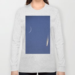 Moon and Jet in the Deep Blue Long Sleeve T-shirt