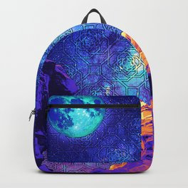 Psychedelic Stone Galaxyscape Backpack