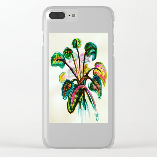 A Bouquet of Leaves Clear iPhone Case