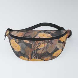 Watercolor Roses Fanny Pack