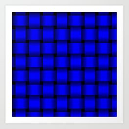 Large Blue Weave Art Print
