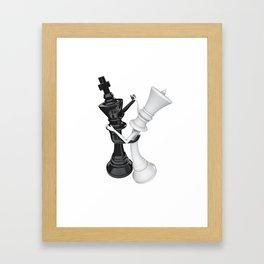 Chess dancers Framed Art Print
