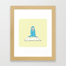 Leon the friendly Yeti Framed Art Print