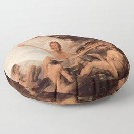 Francisco de Goya - Cannibals Floor Pillow