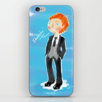 tom hiddleston iPhone & iPod Skins featuring Tom Hiddleston - Ehehehe! by Delucienne Maekerr