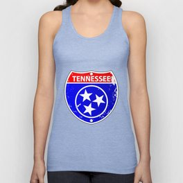 Tennessee Flag Icons As Interstate Sign Unisex Tank Top