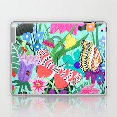 Butterflies and Moths Pattern - Blue Laptop & iPad Skin