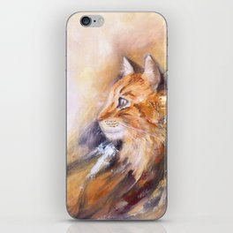 Peaceful cat iPhone Skin