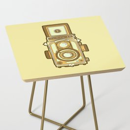 Vintage camera yellow Side Table
