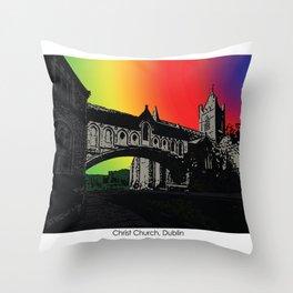 Christ Church Cathedral, Dublin Throw Pillow