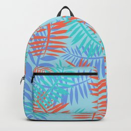 Tropical Ferns Blue Backpack