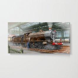 "LBSC Atlantic Express Locomotive ""Beachy Head"" Metal Print"