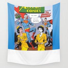 Action Comics 255 Bizarro the Player vs Nice Guy Superman Wall Tapestry