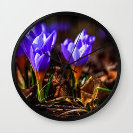 Concept flora : Purple love Wall Clock