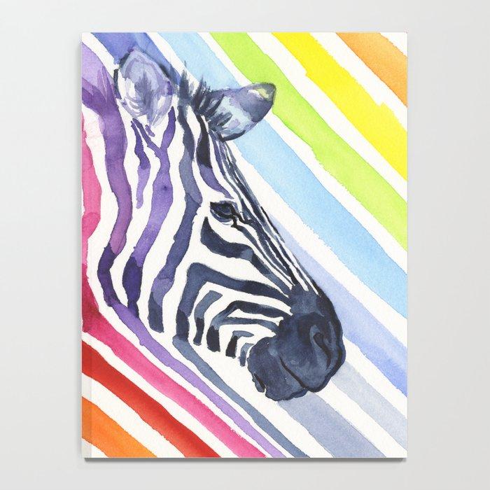 Animal Zebra Rainbow Notebook