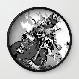 Motocross Dirt-Bike Championship Racer Wall Clock