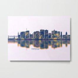 Topeka Skyline Metal Print