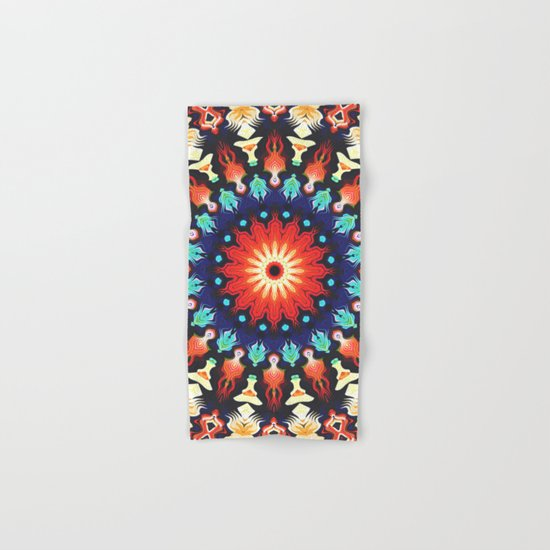 Colorful Mandala Motif Hand & Bath Towel