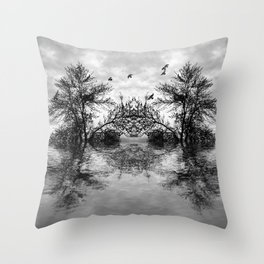 beautuful surreal lack Throw Pillow