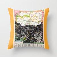 arizona Throw Pillows featuring Arizona by Ursula Rodgers