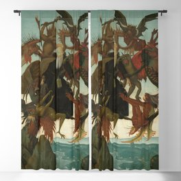 Michelangelo - The Torment of Saint Anthony Blackout Curtain