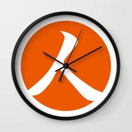Persimmon Orange Person Wall Clock