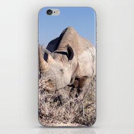 Rhino stare down - Ellie Wen iPhone Skin
