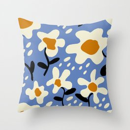 Fresh Flowers Simple Abstract Throw Pillow