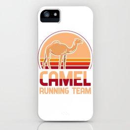 Camel running team - Kamäle, jogging iPhone Case