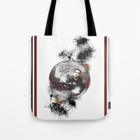 panic at the disco Tote Bags featuring Panic! At The Disco by Andrea Valentina