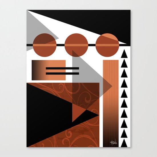 AZTEC DESERT   brown Canvas Print