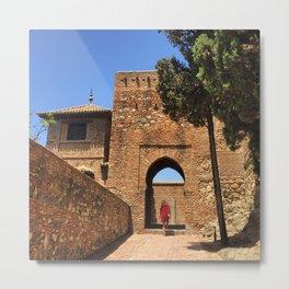 Alcazaba Gate : Malaga Andalucia Metal Print