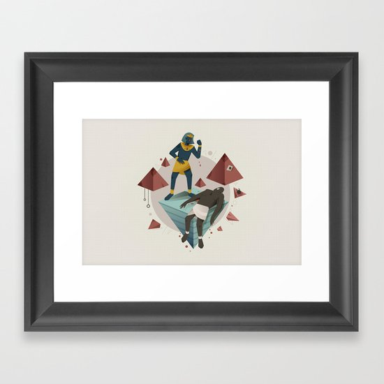 Moses Murders a Man (By Tommy Chandra) Framed Art Print