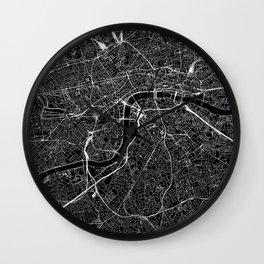 London Black Map Wall Clock