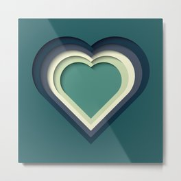 Paper Cutout Heart 011 Metal Print