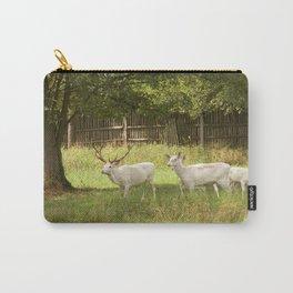 Leucistic deer herd Carry-All Pouch
