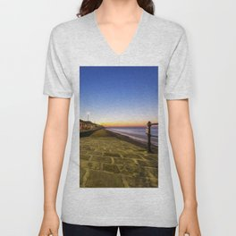 Saltburn in the evening light Unisex V-Neck