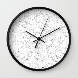 Skulls and ghosts pattern Wall Clock