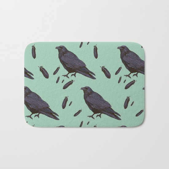 Mint Raven Bath Mat