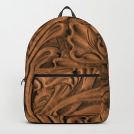 Golden Tanned Tooled Leather Backpack