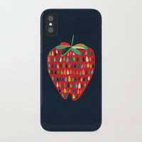 strawberry iPhone & iPod Cases featuring Strawberry by Picomodi