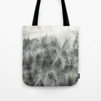 creepy Tote Bags featuring Everyday by Tordis Kayma